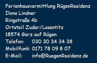 Impressum der Ferienhausvermittlung Rügenresidenz