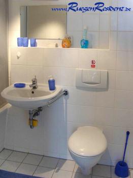 Das Badezimmer der FeWo 1b