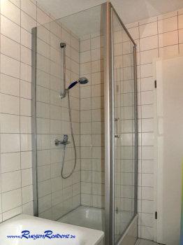 Duschkabine im Badezimmer, hier z.B. Haus Nr.2