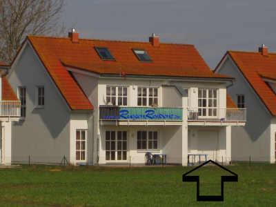 Lage der Ferienwohnung 2b in der RügenResidenz Zudar
