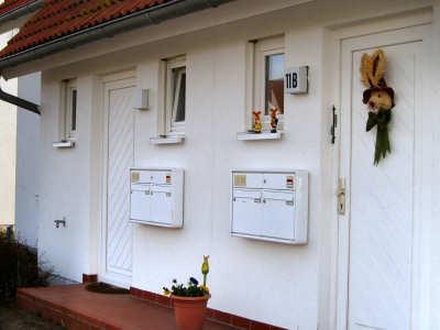 Hauseingang zur Ferienwohnung 1 in Zudar auf Rügen