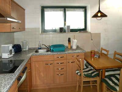 Moderne Einbauküche mit Cerankochfeld