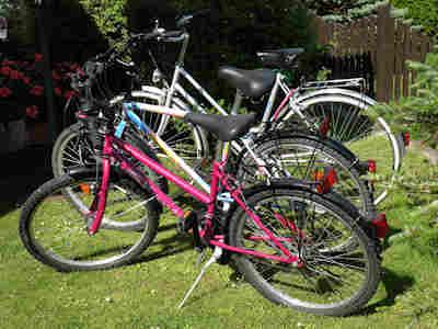 Ihnen stehen kostenlos drei Fahrräder zur Verfügung