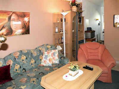 Die moderne Klappcouch im gemütlichen Wohnzimmer