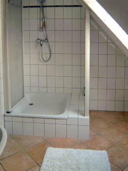 Duschkabine im Bad Wohnung 1 Gutshaus Losentitz