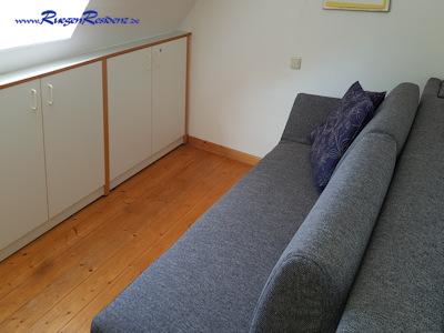 Das zweite Zimmer im Obergeschoß ist mit seiner modernen Schlafcouch verwandlungsfähig...