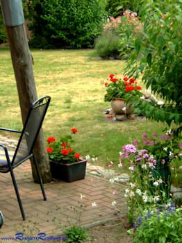 Relaxen im Garten des Gutshauses