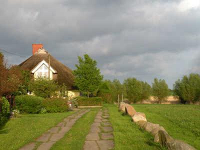 Zufahrt zum Ferienhaus Silmenitz auf Rügen