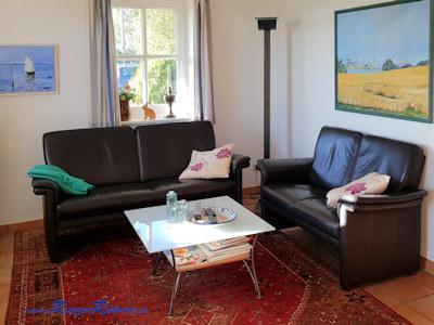 Die Couch im Wohnzimmer