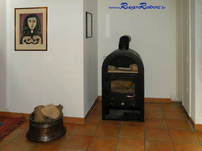 Diese Haushälfte hat einen Kamin!