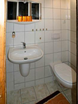 WC im Bad der Ferienwohnung